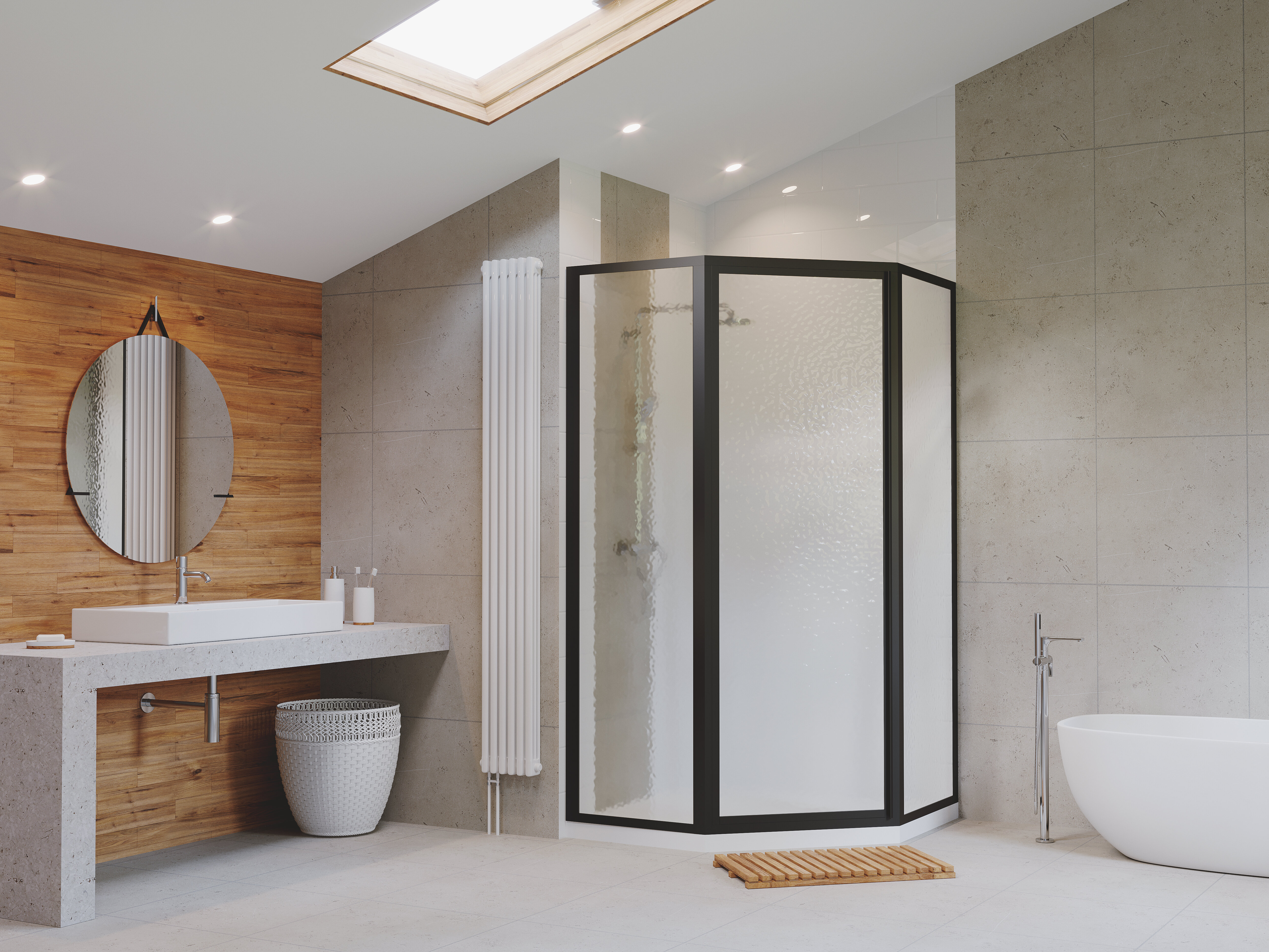 Legend 59 X 70 Neo Angle Hinged Shower Enclosure