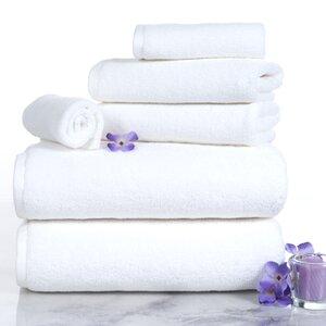 6 Piece Egyptian-Quality Cotton Towel Set