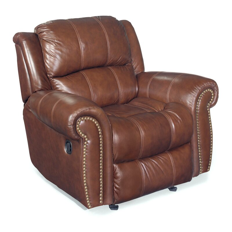 Red Leather Reclining Chair hooker furniture glider leather recliner chair & reviews | wayfair