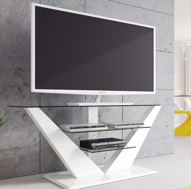 High Gloss White Tv Stand Wayfair