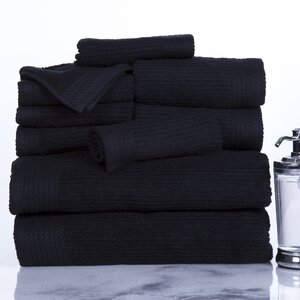 Ribbed 10 Piece Towel Set