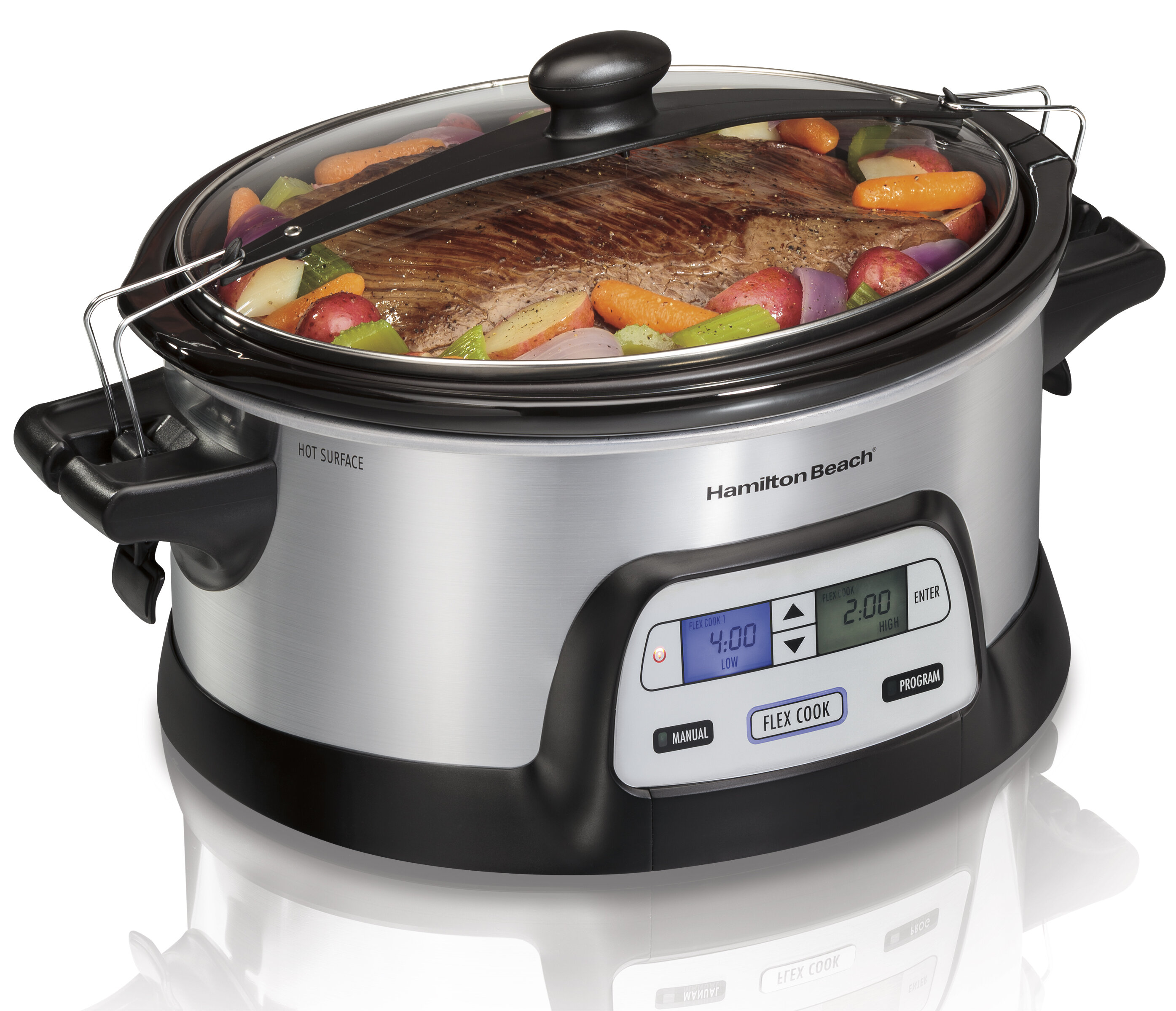 Hamilton Beach 6 Qt Stay or Go Programmable FlexCook Slow Cooker
