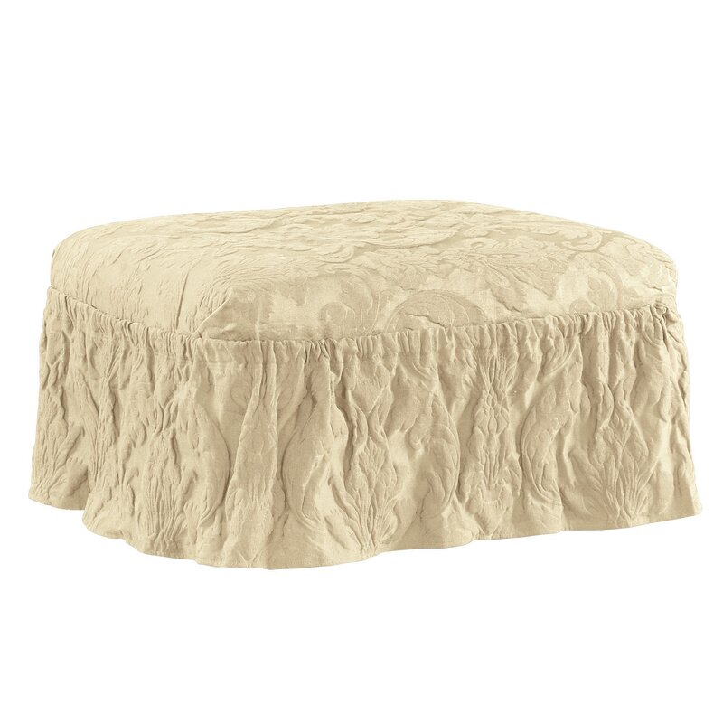 default_name - Sure Fit Matelasse Damask Ottoman Slipcover & Reviews Wayfair