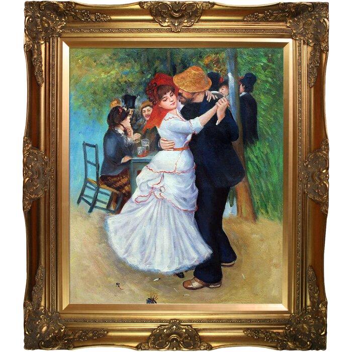 Dance At Bougival By Pierre Auguste Renoir Framed Painting Print