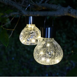 Solar lights youll love wayfair crackle mini jar solar 2 piece led landscape lighting set aloadofball Gallery