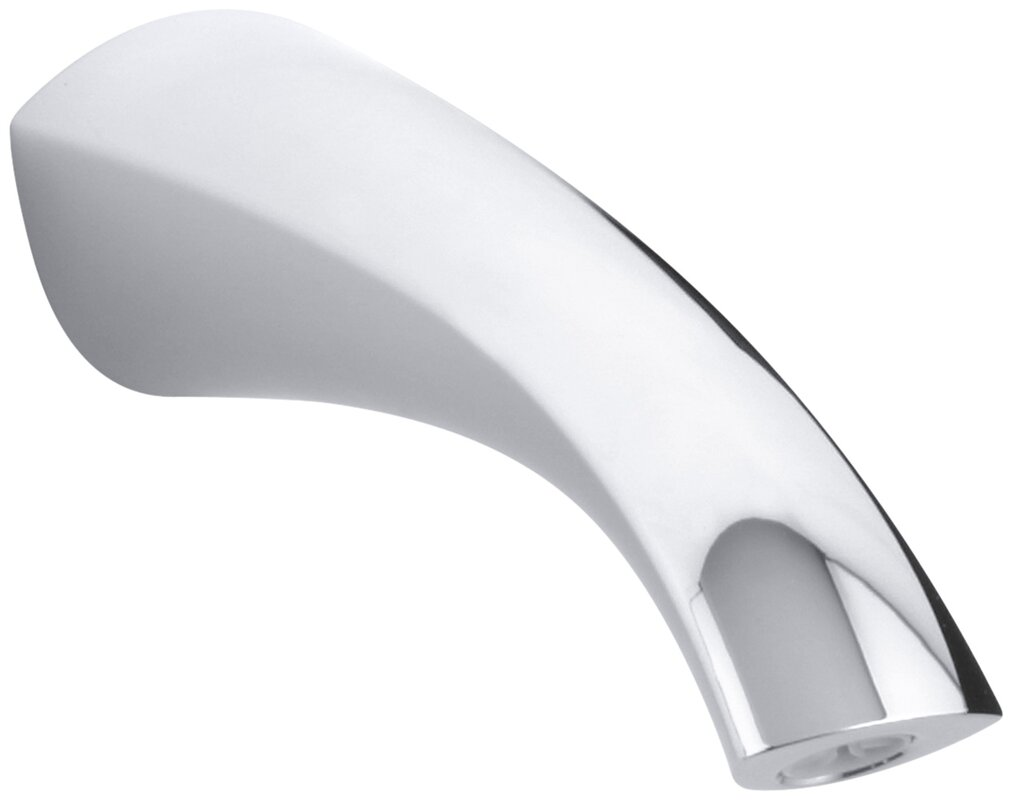 Kohler Alteo WallMount NonDiverter Bath Spout  Reviews Wayfair - Wall mount bathtub faucet with diverter