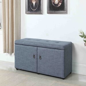 argent traditional shoe storage bench
