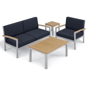 Farmington 4 Piece Water Resistant Deep Seating Group with Cushion
