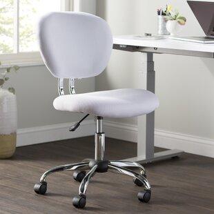 Gentil White Fuzzy Desk Chair | Wayfair
