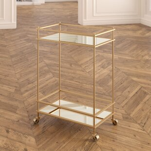 Walter Mirrored Bar Cart