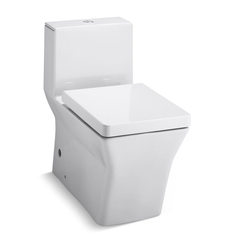 Rêve Comfort Height Skirted One Piece Elongated Dual Flush Toilet With Top  Actuator