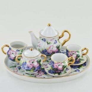 e482e5b32400 Hathaway Miniature Sweet Pea 6 Piece Porcelain China Tea Set