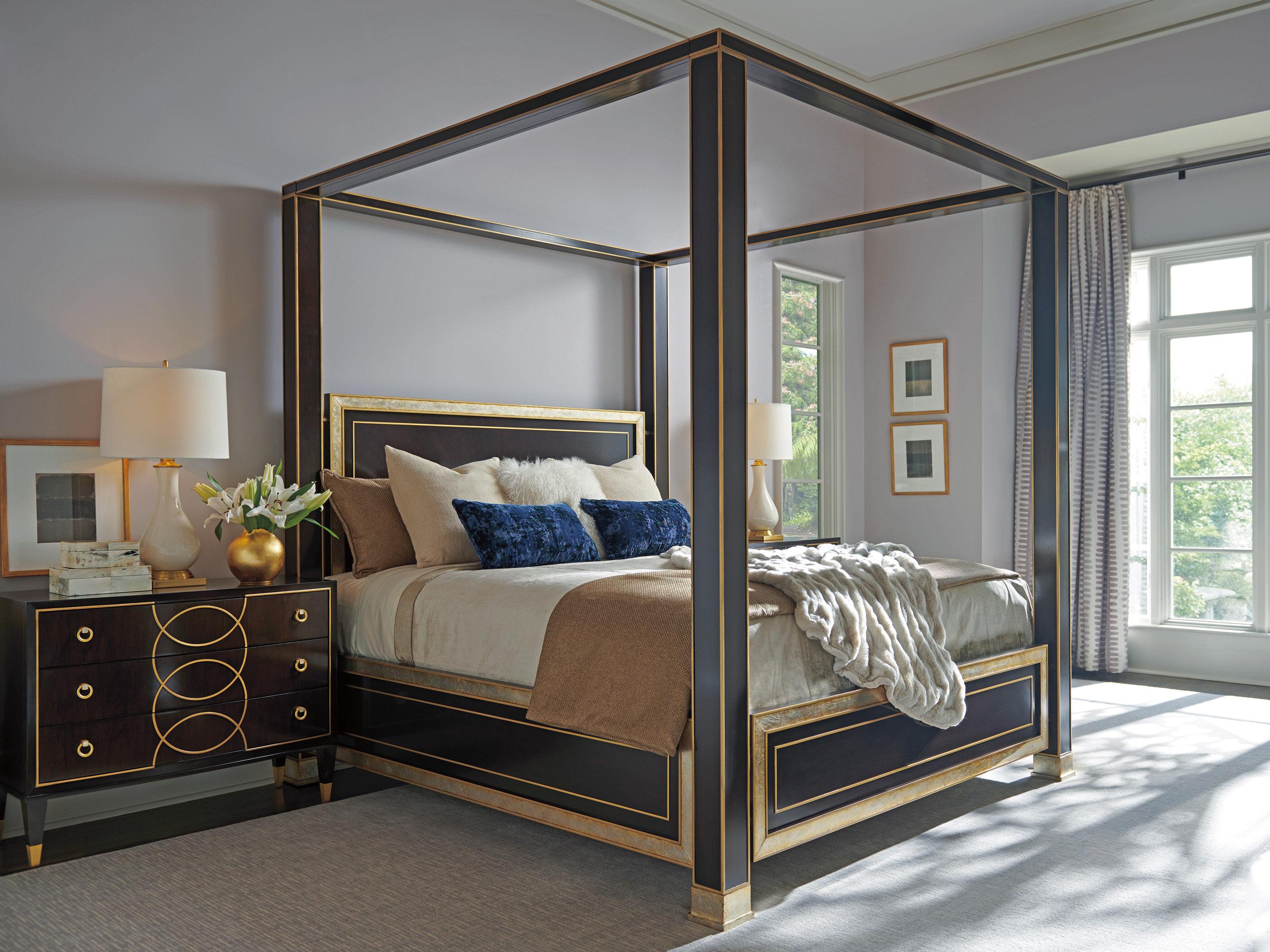 Awe Inspiring Carlyle Four Poster Configurable Bedroom Set Interior Design Ideas Pimpapslepicentreinfo