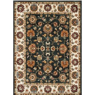 Lowe Dark Grey Ivory Area Rug By Charlton Home