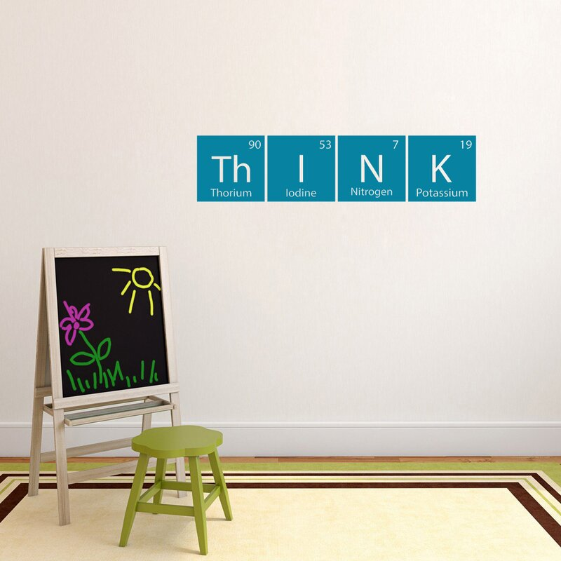 Think Periodic Table Wall Decal