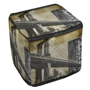 Metropolitan Collage 2 Ottoman by Manual Woodworkers & Weavers