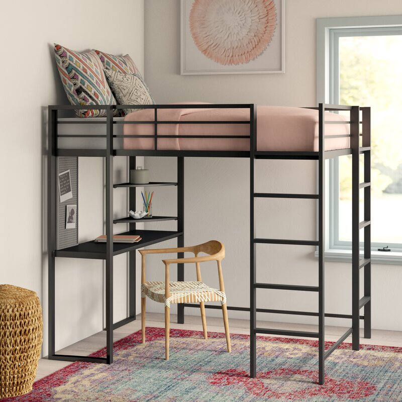 Merveilleux Aime Full Loft Bed With Bookcase