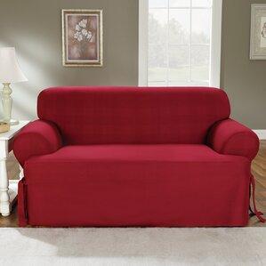 Cotton Duck Sofa T-Cushion Slipcover