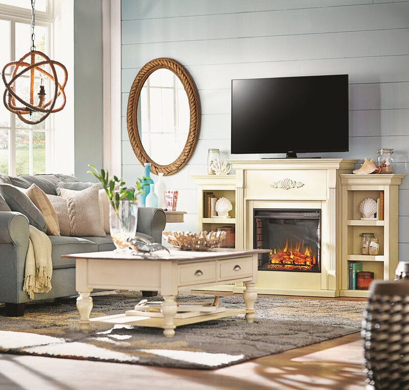 Coastal Living Room Design August Grove Neve