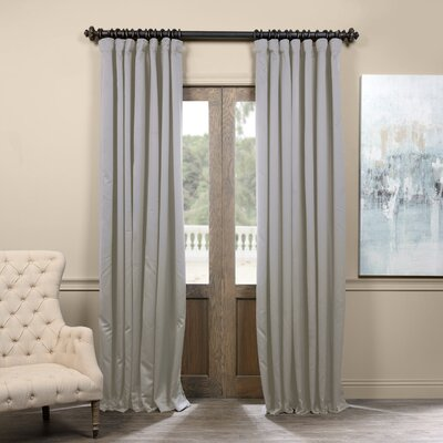 Alcott Hill Aldreda Extra Wide Solid Blackout Thermal Rod Pocket Single Curtain Panel Size per Panel: 96 L x 100 W, Color: Fog Gray