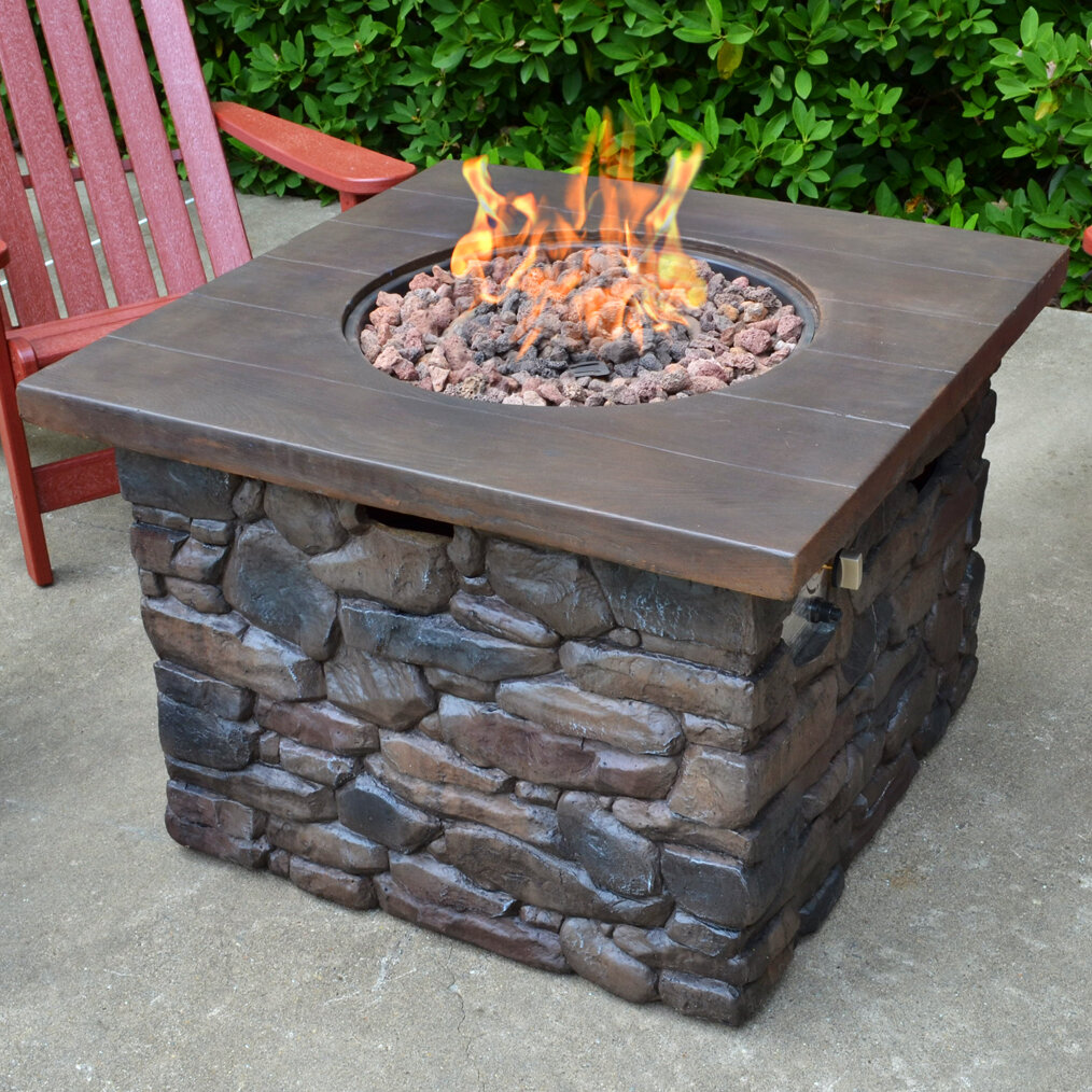 Tortuga Outdoor Yosemite Stone Propane Fire Pit Table Reviews Wayfair