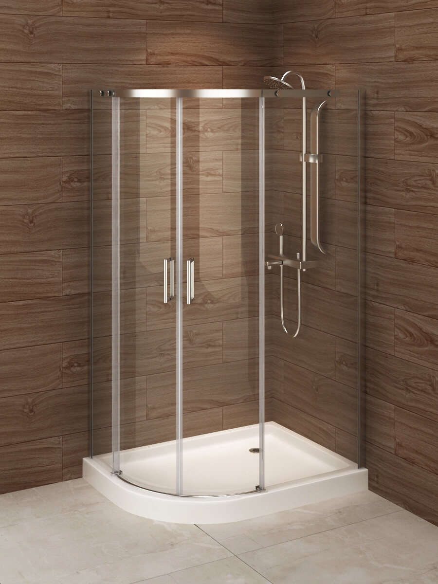 Madrid 48 X 77 Neo Angle Sliding Shower Enclosure With Base Included