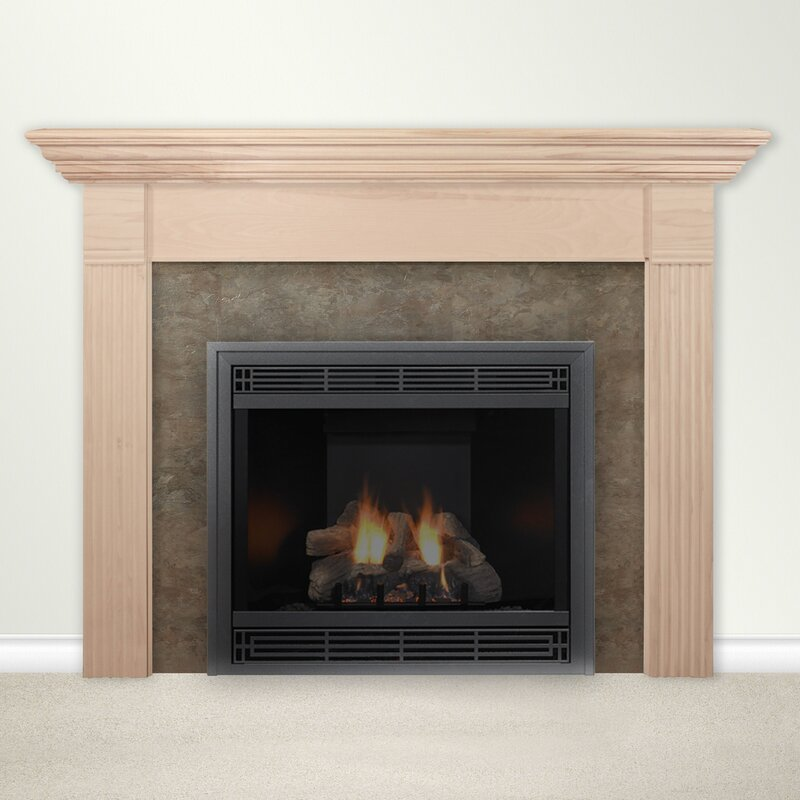 Housewarmer Fireplace Mantel Surround with Shelf Reviews Wayfair