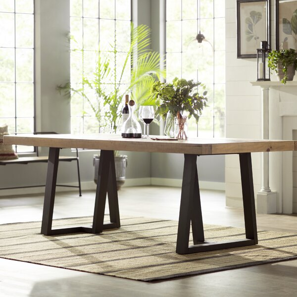 Solid Wood Coffee Table Wayfair: Gracie Oaks T.J. Dining Table & Reviews
