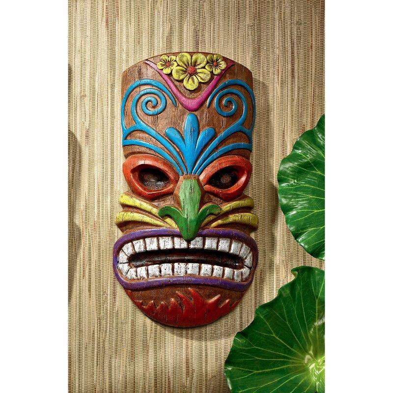 Design Toscano Hoaloha, God of the Hawaiian Isle Tiki Wall Décor ...