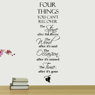 Four Things You Can T Recover Quote Wall Decal