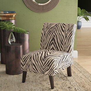 Marvelous Mariela Linen Zebra Slipper Chair