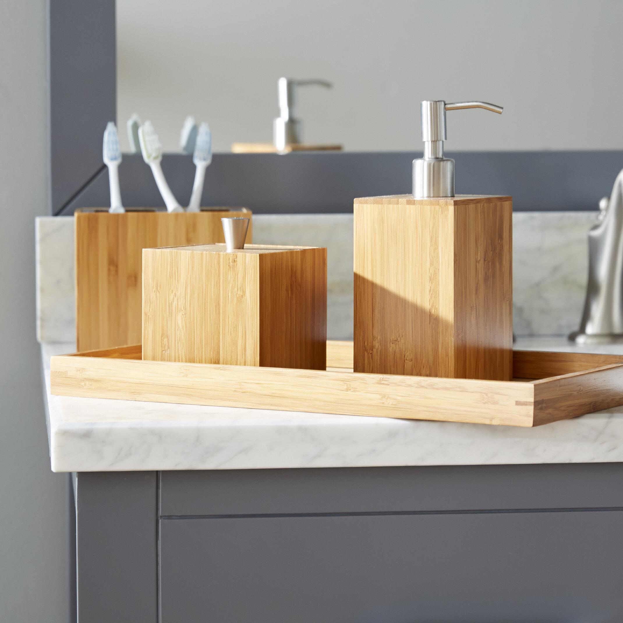 Teak Wood Bathroom Accessories | Wayfair