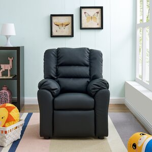 hunter recliner kids faux leather chair