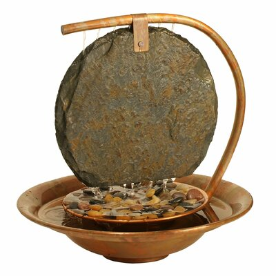 Bluworld Moonshadow Metal Tabletop Fountain with Light Finish: Copper