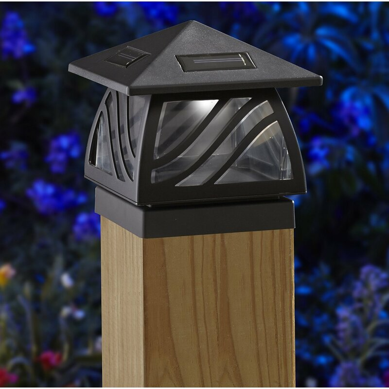 Moonrays Caswell Solar Powered 2 Light Led Fence Post Cap