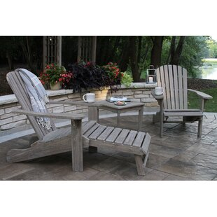 Guildford Eucalyptus Adirondack Chair Set Of 2 With Ottoman