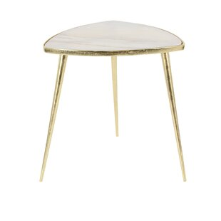 Aluminum/Marble End Table