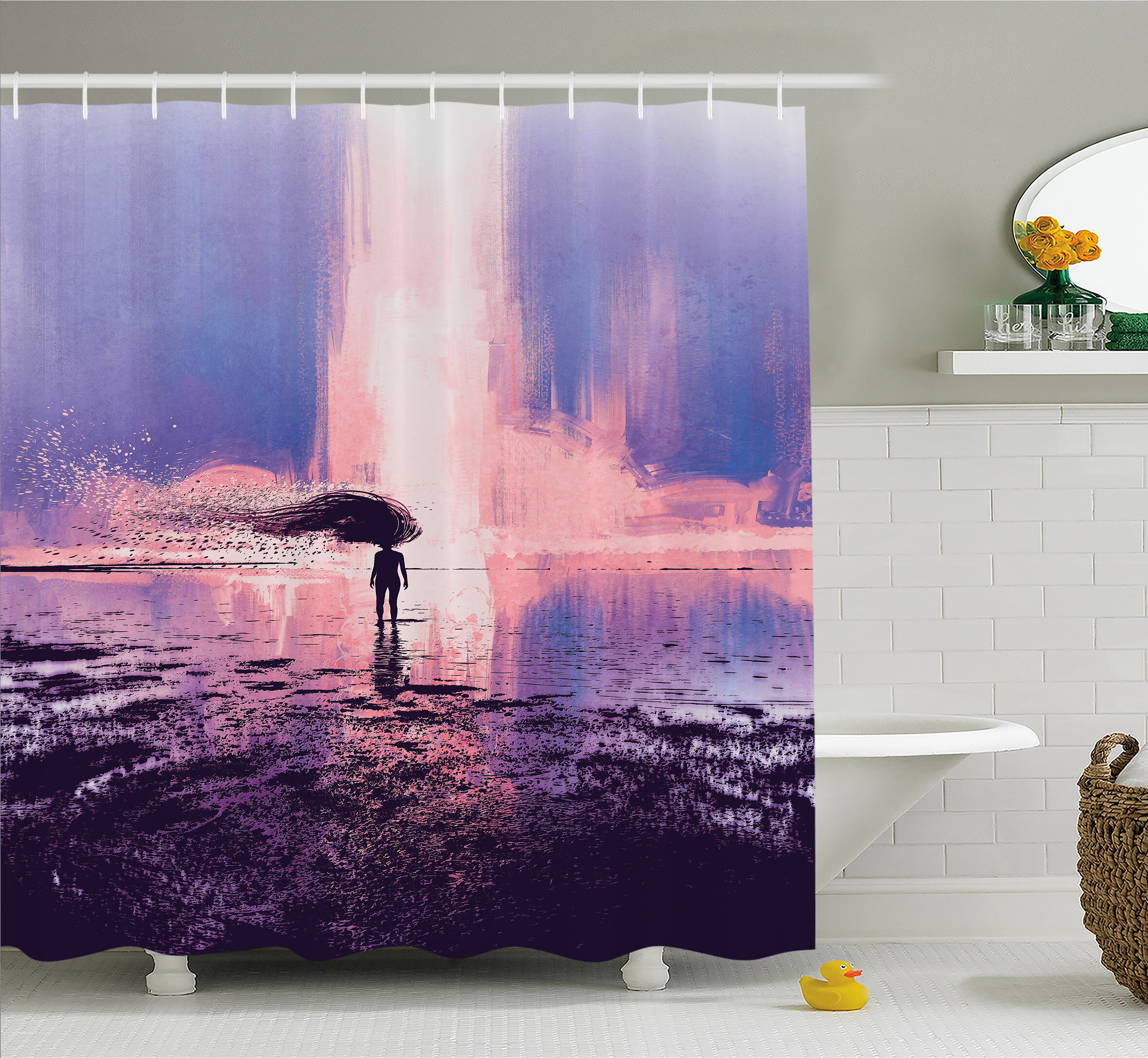 East Urban Home Trippy Spiritual Wind with Blowing Long Hair on the ...