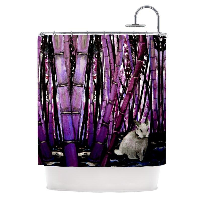 Bamboo Bunny Shower Curtain