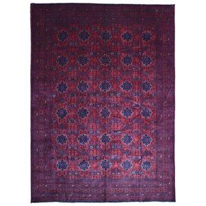 Seamus Khal Mohammadi Afghan Hand Woven Wool Red/Black Area Rug