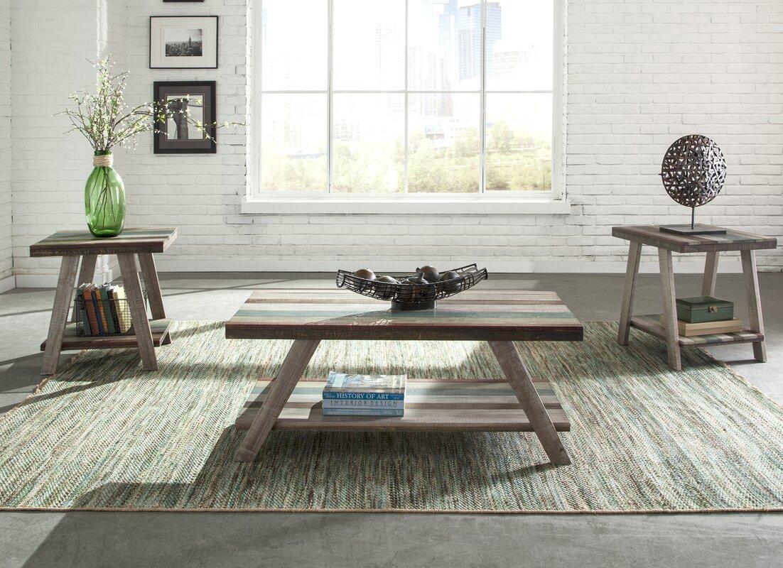 Halfeti 3 Piece Coffee Table Set & Loon Peak Halfeti 3 Piece Coffee Table Set \u0026 Reviews | Wayfair