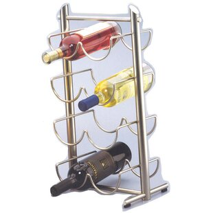 Angles Metalware 8 Bottle Tabletop Wine Rack (Set of 2)
