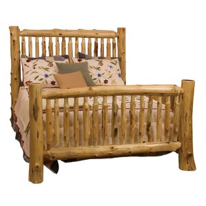 Traditional Cedar Log Slat Bed by Fireside Lodge