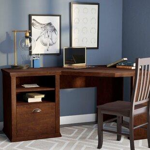corner office furniture oak tenbury corner desk desks youll love wayfair