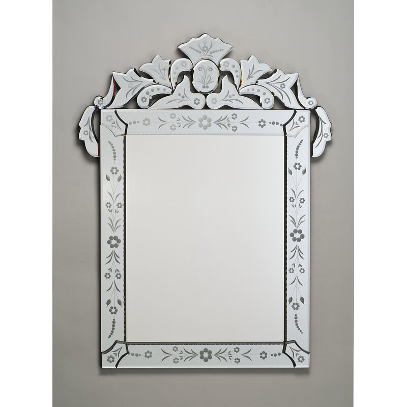 Radiance 26 X 36 Rectangle Traditional Cut Gl And Etched Mirror