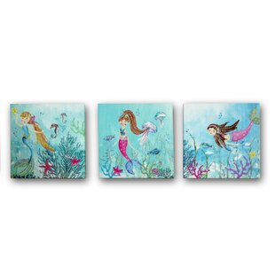 3 Piece Mermaid World Canvas Art Set