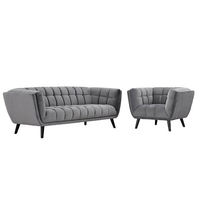 Brayden Studio Seneca 2 Piece Living Room Set Color: Gray