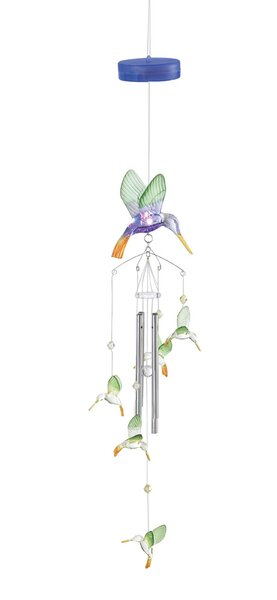Zingz Amp Thingz Hummingbird Color Change Wind Chime
