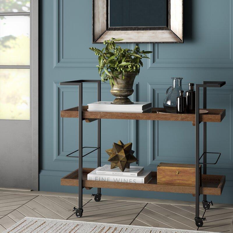 Drucilla Wooden Bar Cart