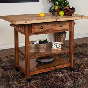 Kitchen Island with Butcher Block Top by Sunny Designs